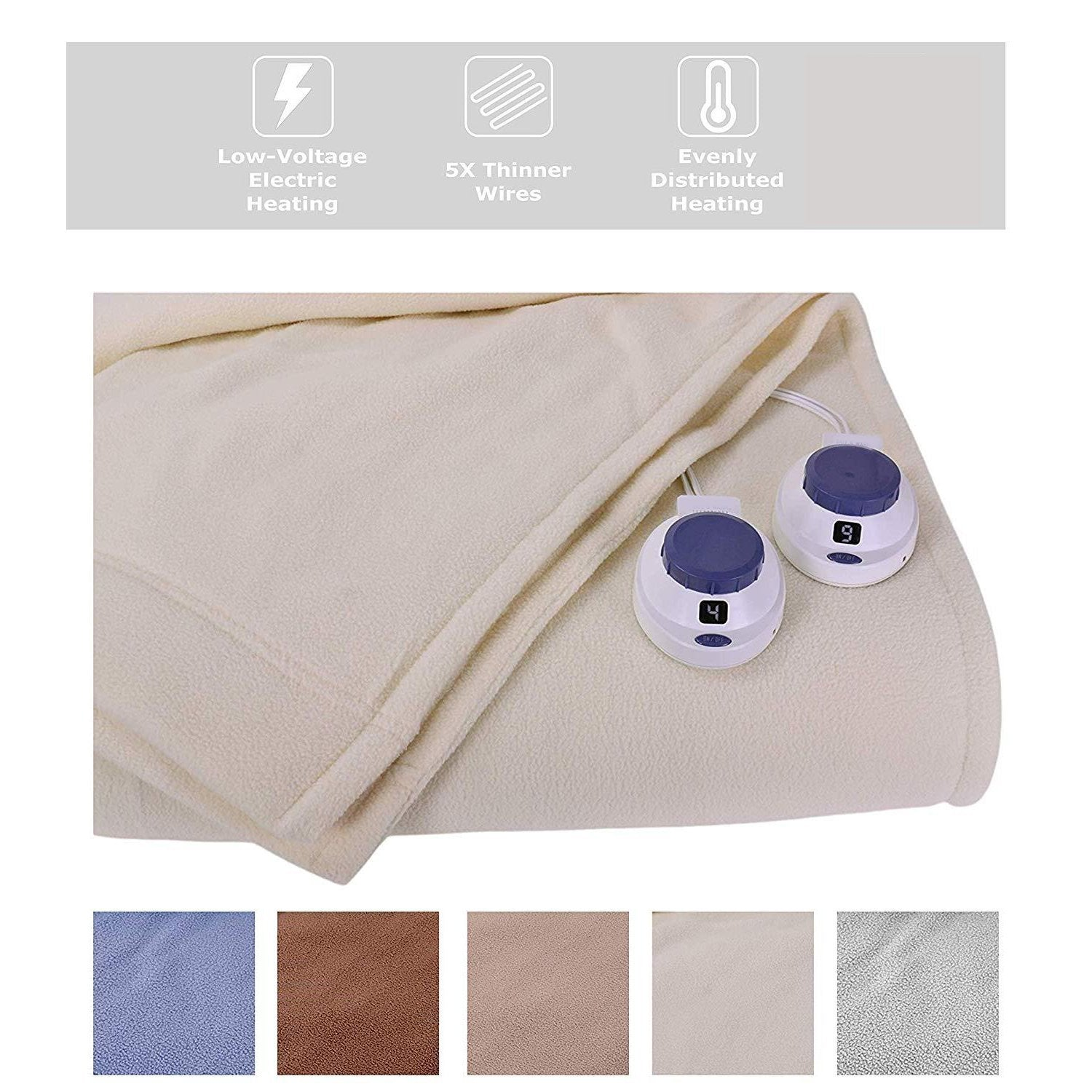 Luxury Low-Voltage Electric Heated Blanket