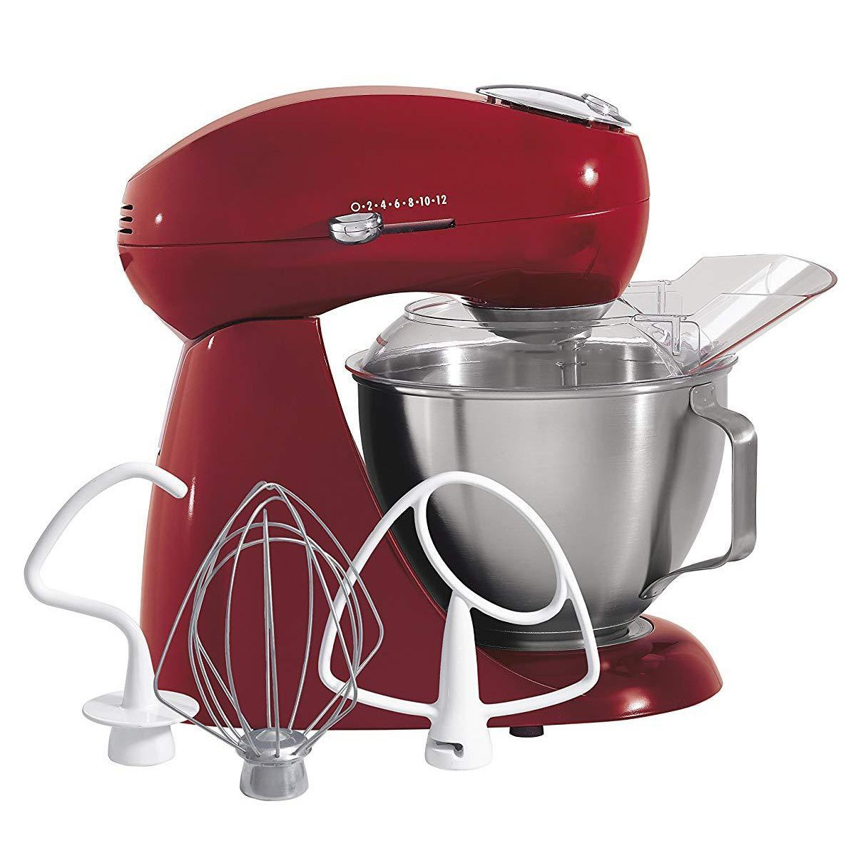 All-Metal Stand Mixer - Red