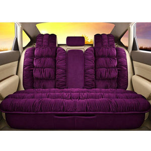 Plush Car Seats Cover Set