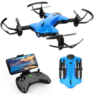 Foldable Drone for Kids and Beginners,Blue