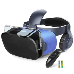 VR Headset with Anti Blue Light Lens