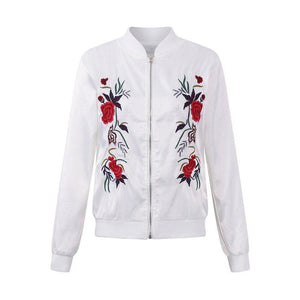 Casual Embroidery Women Jackets