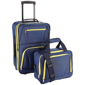 Navy One Size 2 Piece Set Luggage