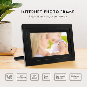 WIFI Real Wood Digital Photo Frame