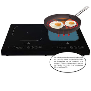 Portable Dual Burner Powersharing Induction Cooktop