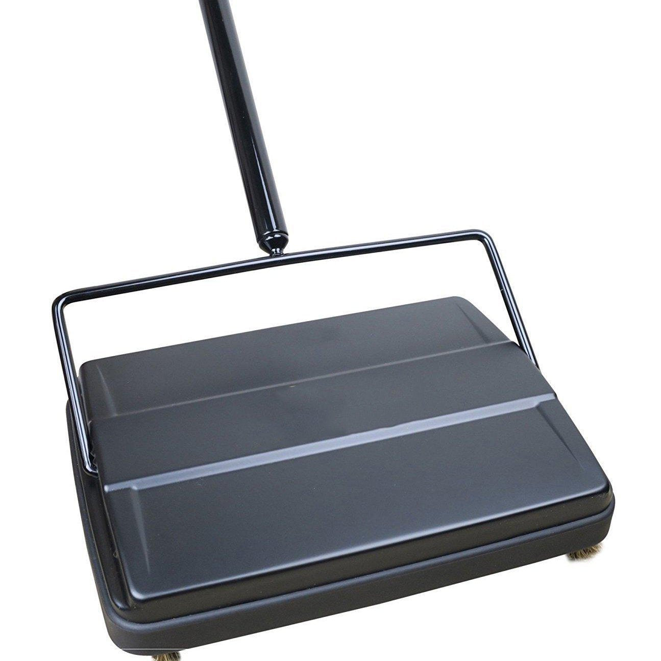 Electrostatic Carpet & Floor Sweeper - 9 Cleaning Path - Black