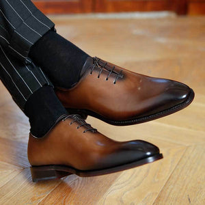 Handmade Genuine Leather Derby Shoes