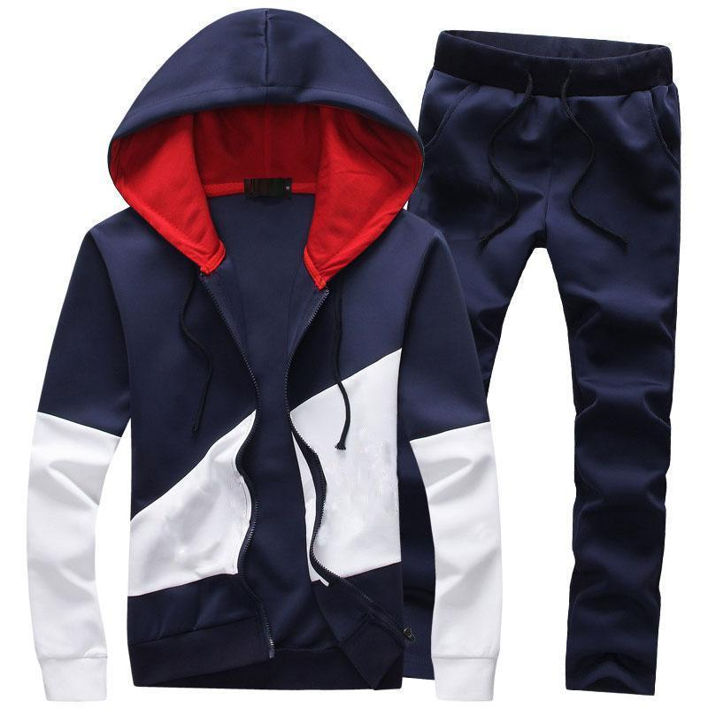 Long Sleeve Sports Casual Plain Letter Men's Suit