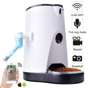 Smart Automatic Food Pet Feeder,2-Way Audio