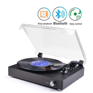 Portable Bluetooth Vintage Style Vinyl Record Player