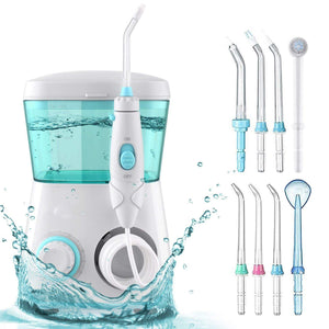 Oral Irrigator With 8 Multifunctional Jet Tips