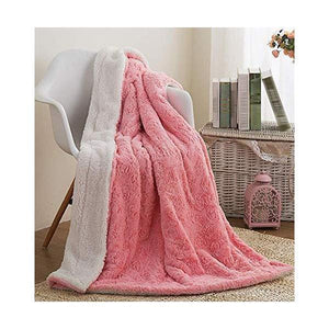 Fluffy Cuddly Rose Buds Soft Faux Blanket