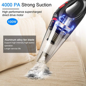 Lightweight Hand Held Vacuum For Home And Car Cleaning