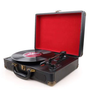 Vinyl Record Player Turntable(Black)