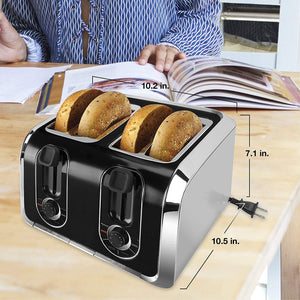 Traditional Square 4-Slice Toaster