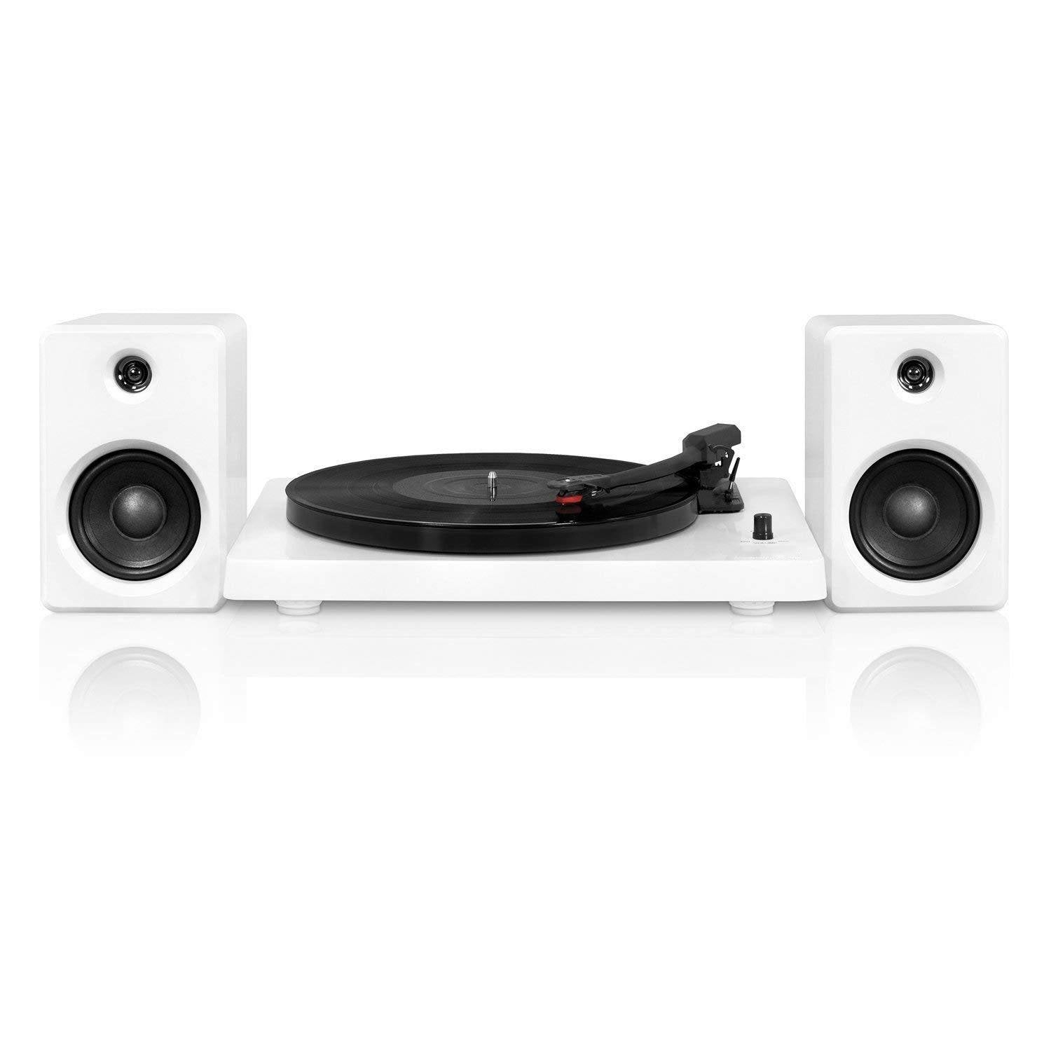 3-Speed Bluetooth Turntable with 50 Watt Speakers