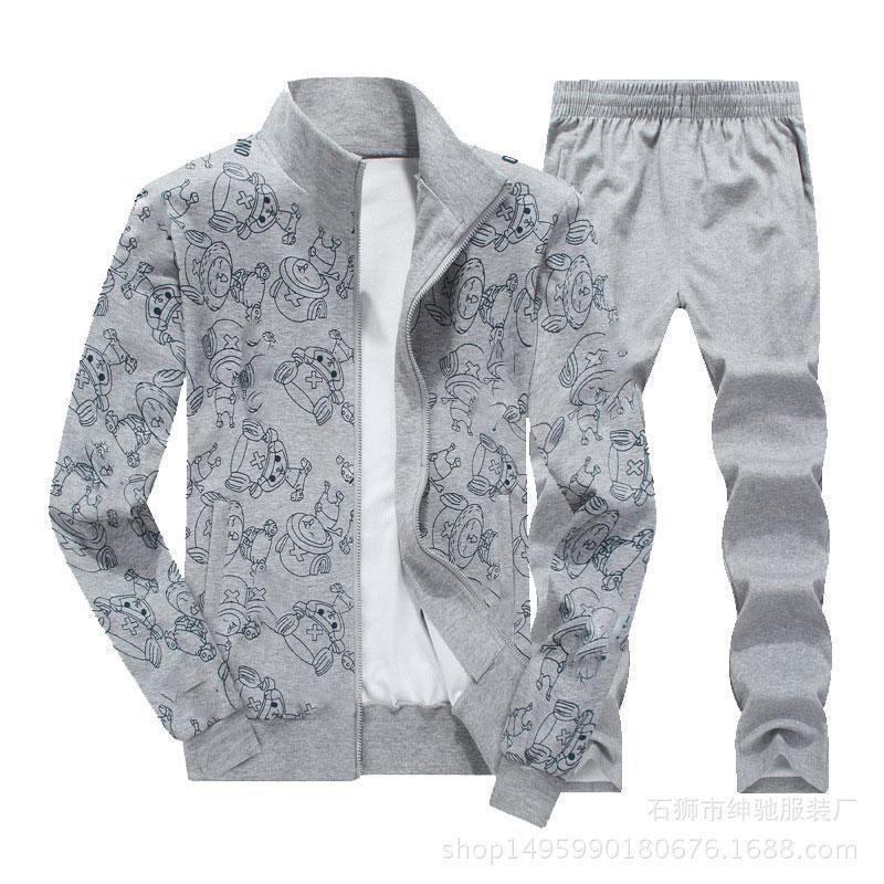 Sports Lapel Long Sleeve Cartoon Men's Suits