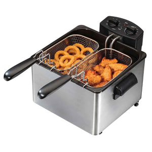 Double Basket Deep Fryer,Professional Grade