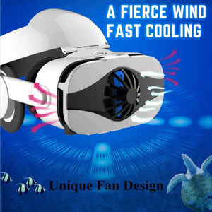 New Virtual Reality Goggles With Headphone & Fan