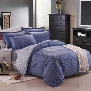 Dark Blue Pure Cotton Bedding Sets 4 Size