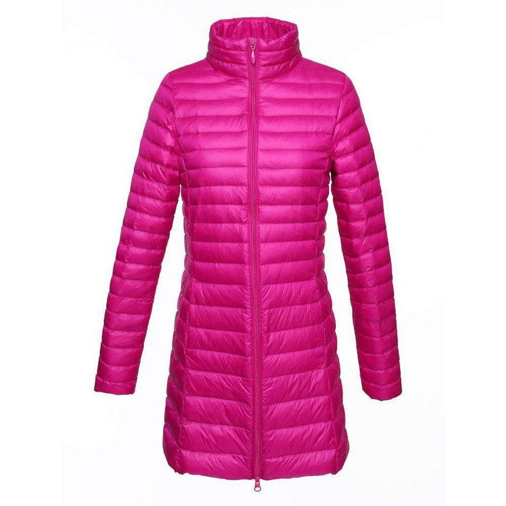 Casual Women Light Down Long Jackets