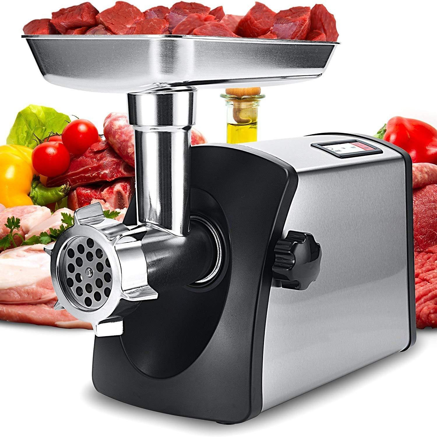 Stainless Steel Meat Mincer With 3 Grinding Plates