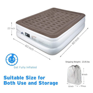 Twin/ Size Air Mattress for Guest, Camping