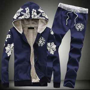 Snow Flower Simple Thickening Men's Sports Suit