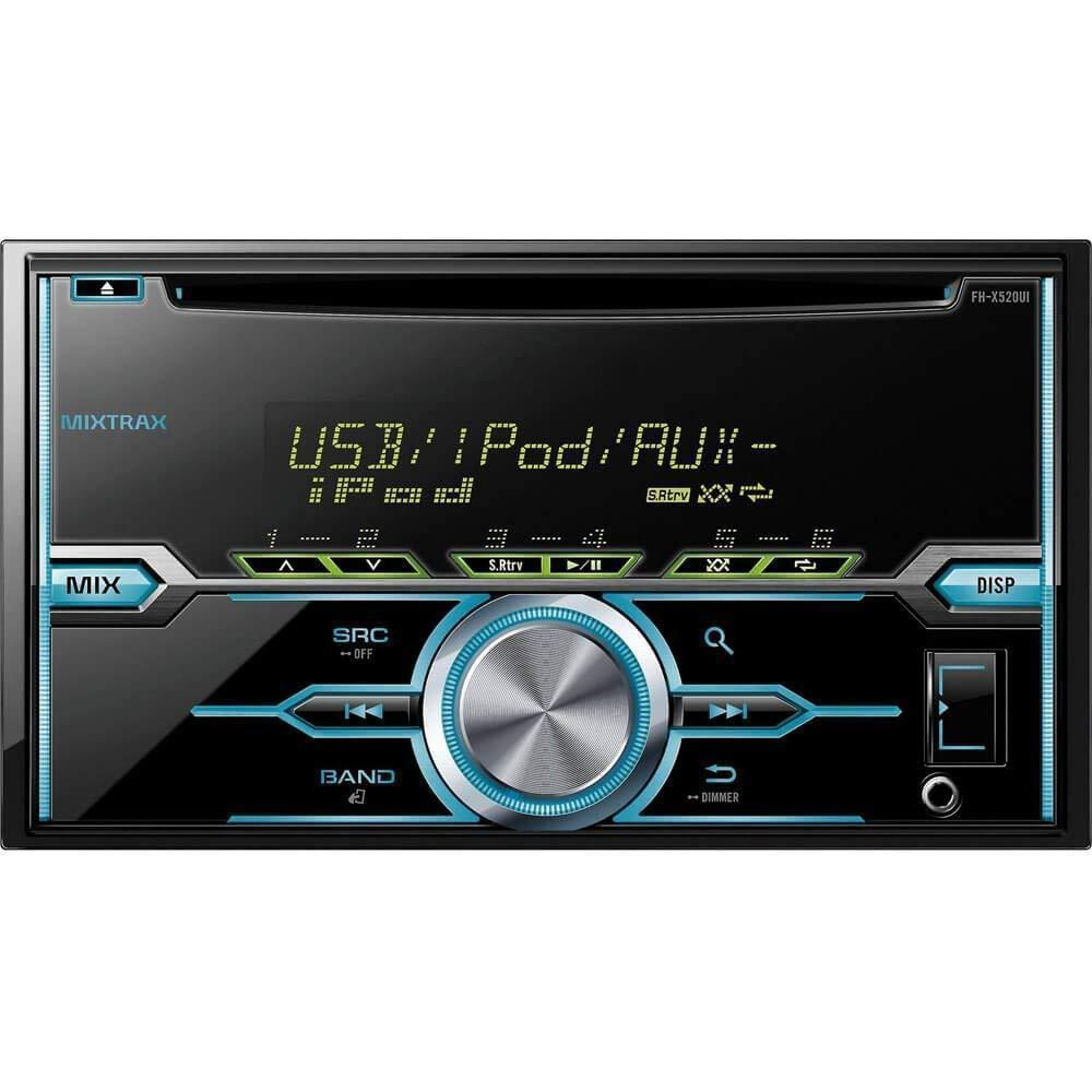 Auxiliary Car Stereo Variable color illumination and Remote control