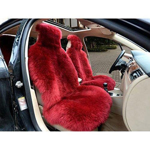 Genuine Sheepskin Long Wool Car 2 Front Seat Covers