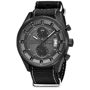 Stainless Steel Dual Time Zone /Date Sports Watch