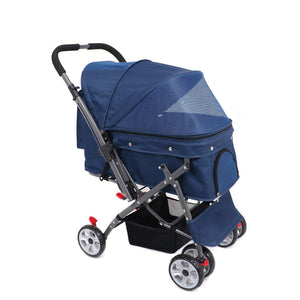 One Touch Fold Dog/Cat/Pet Stroller,Three Color