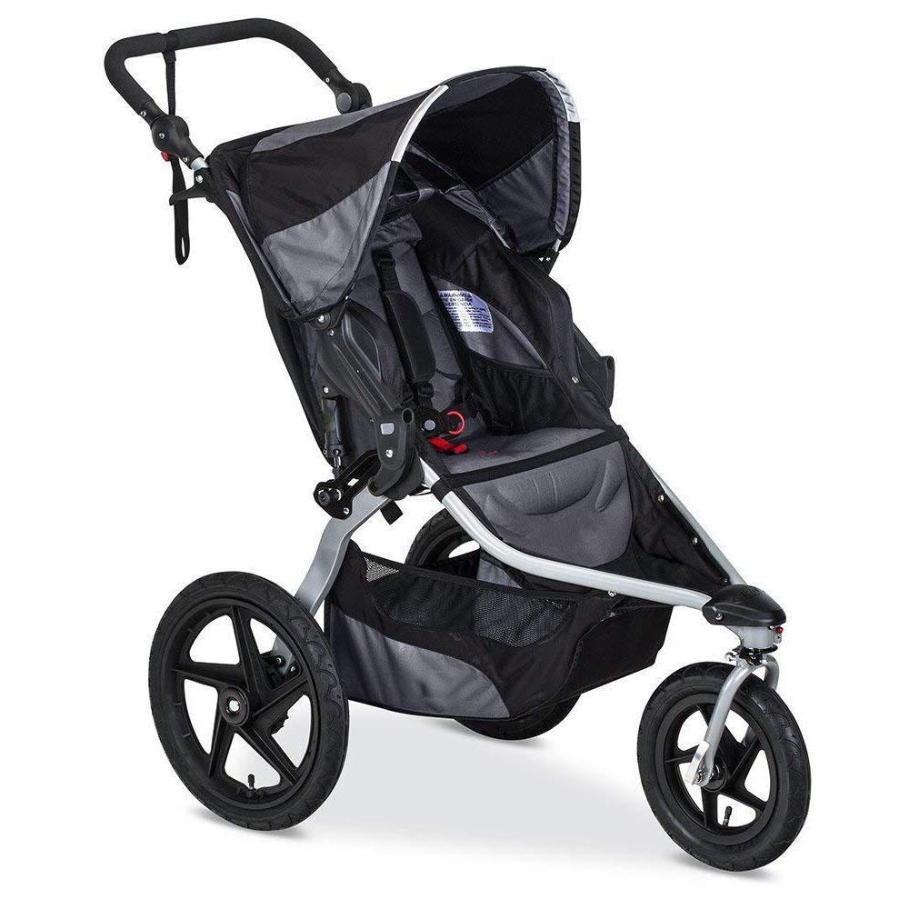 Stroller With Locking Swivel-Front Wheel,Black
