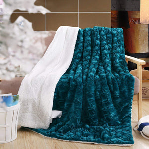 Soft Warm Plush Faux Fur Fleece Throw Blanket