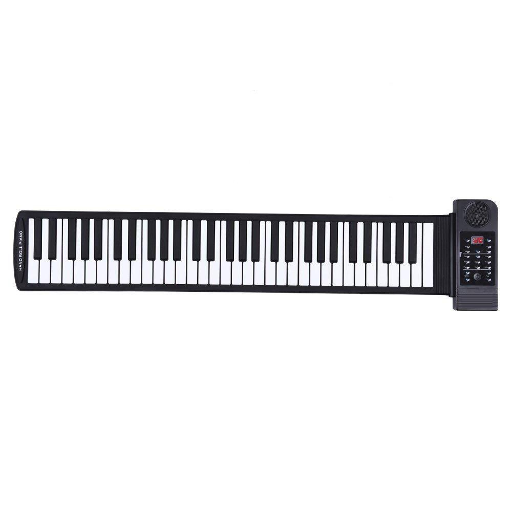 Portable Silicon 61 Keys Roll Up Piano