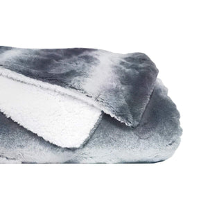 Faux Fur Bed Blanket- Soft, Double-Sided