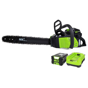 18-Inch 80V Cordless Chainsaw,2.0 AH Battery