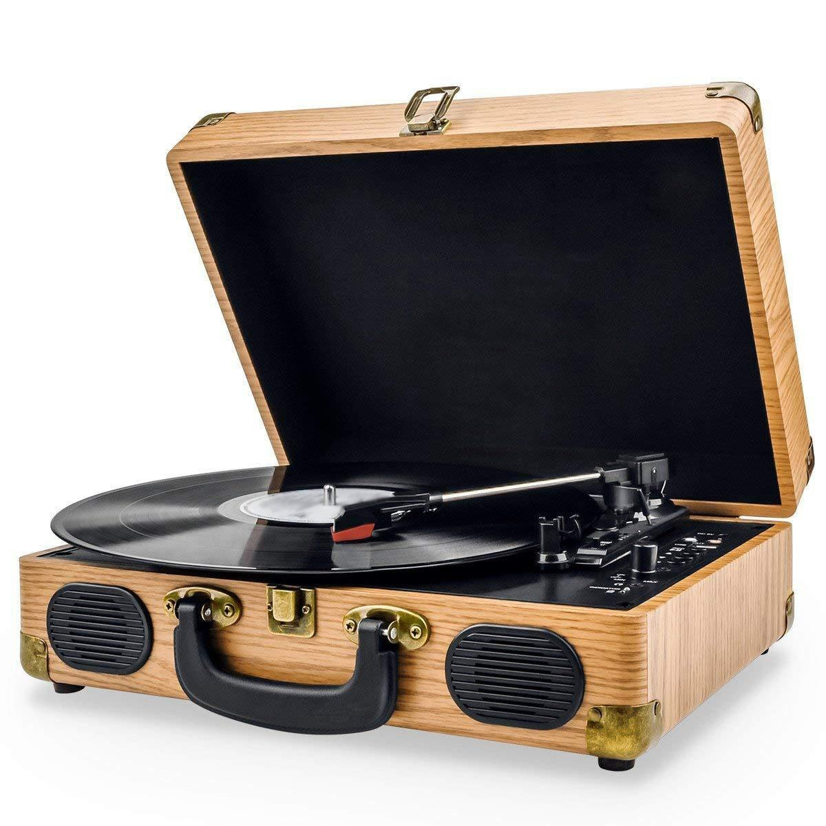 3-Speed All In One Bluetooth Record Player
