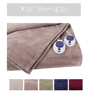 Ultra Soft Plush Electric Heated Warming Blanket