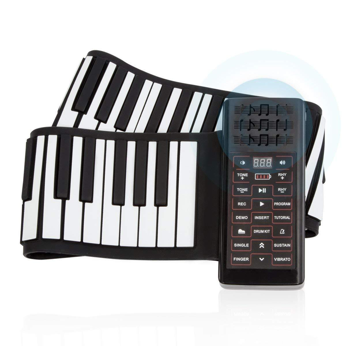 Electronic Flexible Silicone Keyboard Hand-rolling Piano