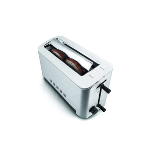 Toaster with Adjustable Toasting Slot,Silver