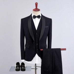 Three Pieces Wedding Slim Business Blazers for Men