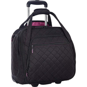 Quilted Rolling Tote(Black)