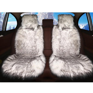 Long Plush Car Seat Cover