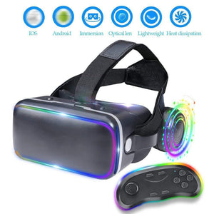 3D VR Headset With Built-in Retractable Earbuds