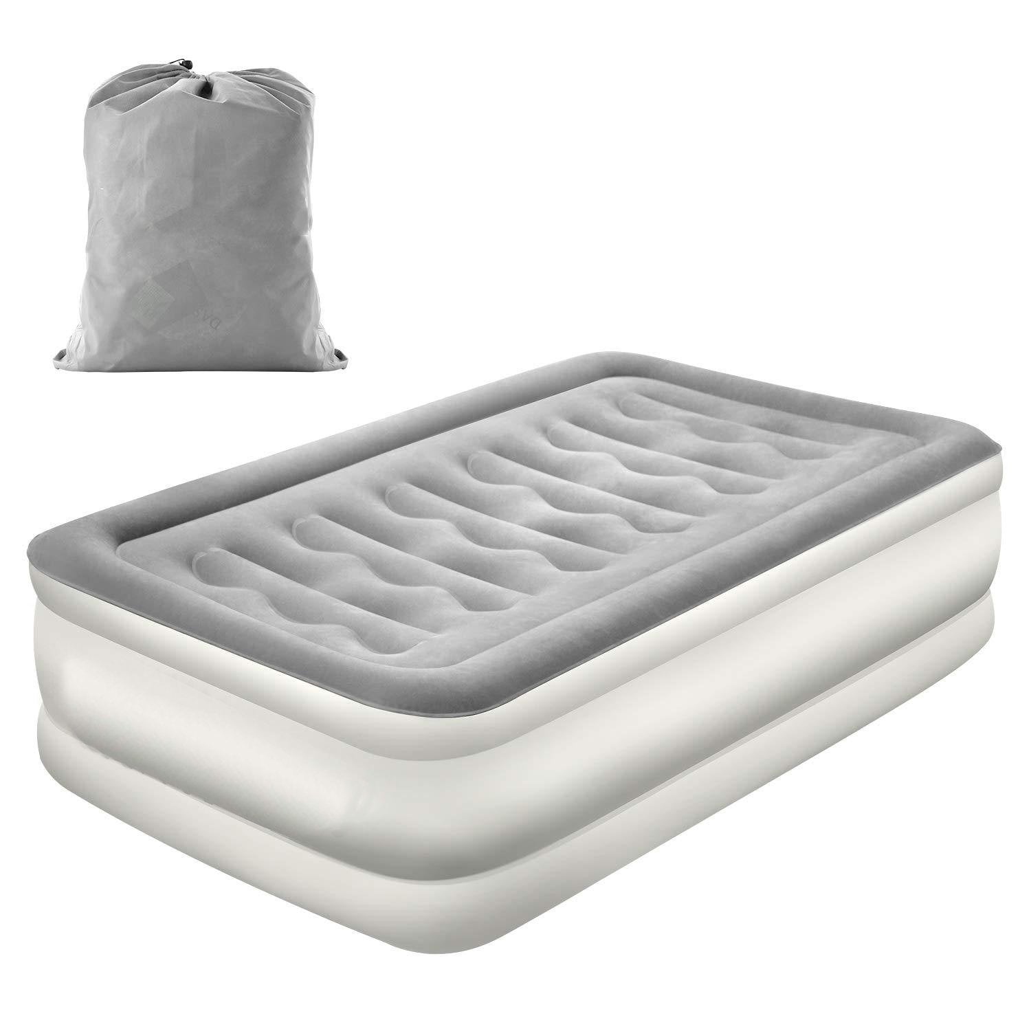 Air Mattress with Built-in Electric Pump and Storage Bag
