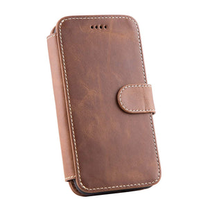 Top Grain Cowhide Leather Detachable Phone Case