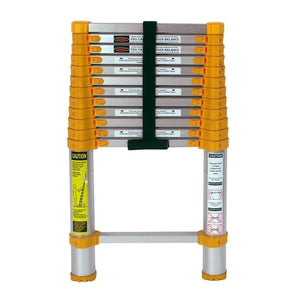 Compact Telescoping-Ladders With Non-Slip End Caps