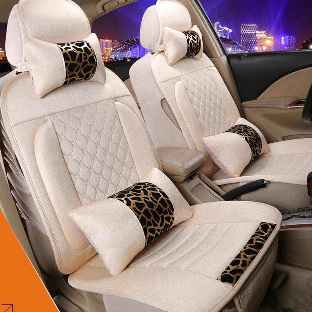 Slip-proof Front Rear Car Seat Cushion Cover