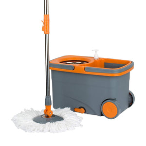 Spin Cycle Mop with Bucket - Graphite/Orange